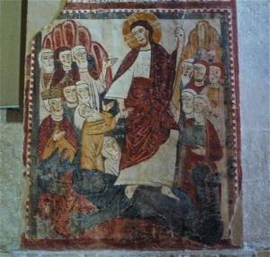 Medieval wall-panting inside church of San Tommaso