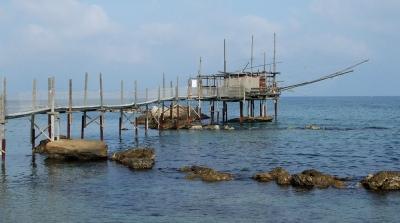 Traditional Trabbocho fishing platform