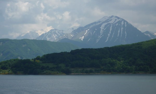 Lake Campotosto and Monte Piano