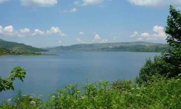 Lake Campotosto and Campotosto village