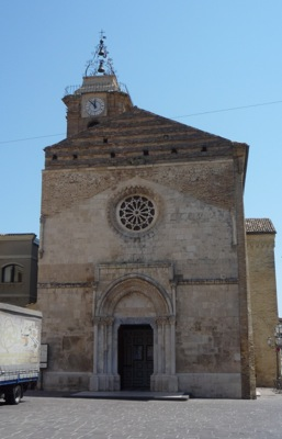 The medieval facade of Vasto's San Giuseppe Cathedral