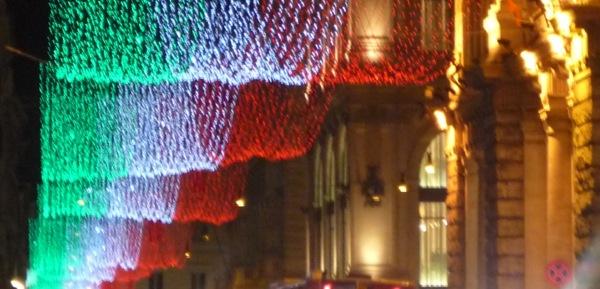 Red, white and green. Viva L'Italia