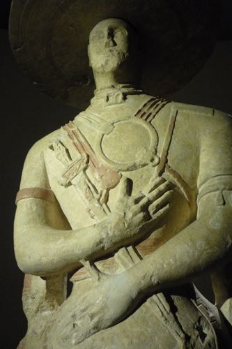 Detail of the Capestrano Warrior