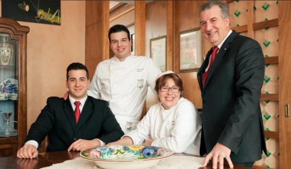 The Tinari family, who run the Villa Maiella