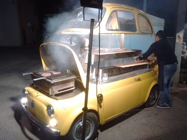 A Fiat 500 BBQ !