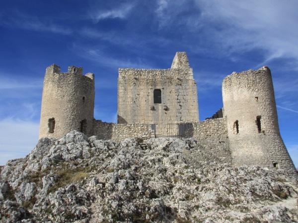 Rocca Calascio Castle under a blue October sky