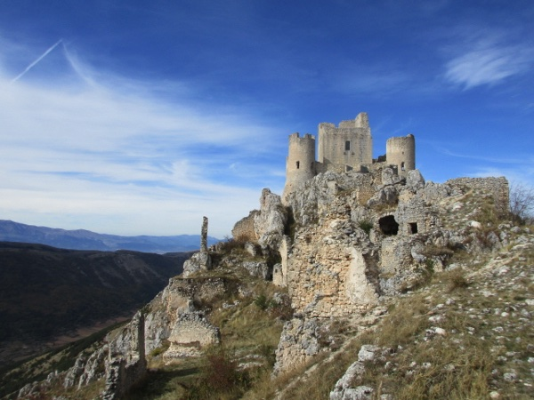 The castle's towering views oer the surrounding landscape
